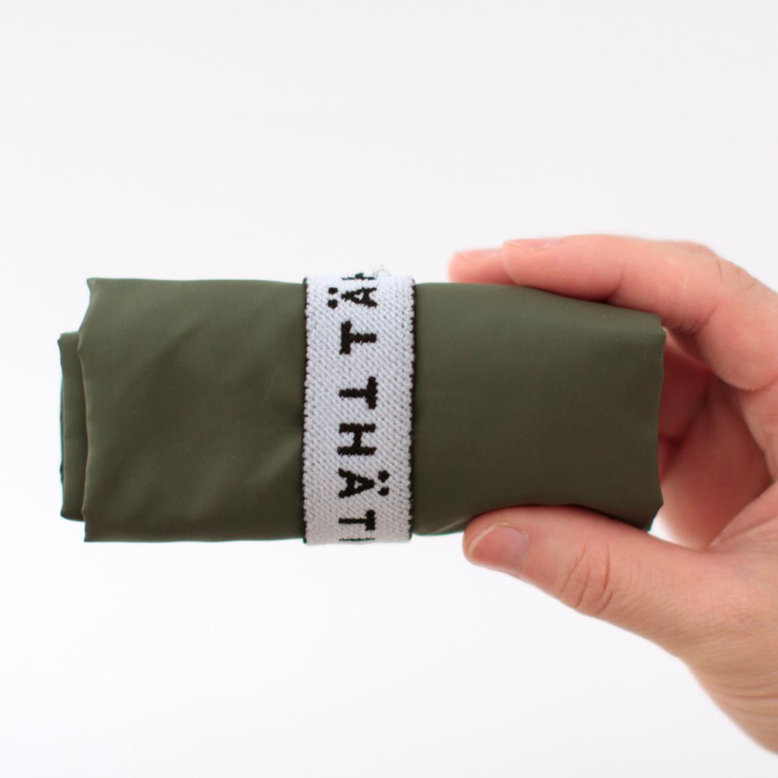 【TAHTI-タハティ-】 <BR>エコバッグ/マイバッグ 1201 カーキ <BR>洗える リフレクター(反射材)付き