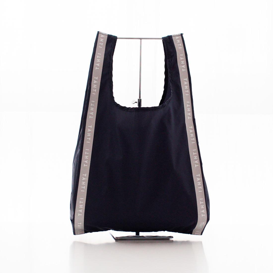 【TAHTI-タハティ-】 <BR>エコバッグ/マイバッグ 1201 ブラック <BR>洗える リフレクター(反射材)付き