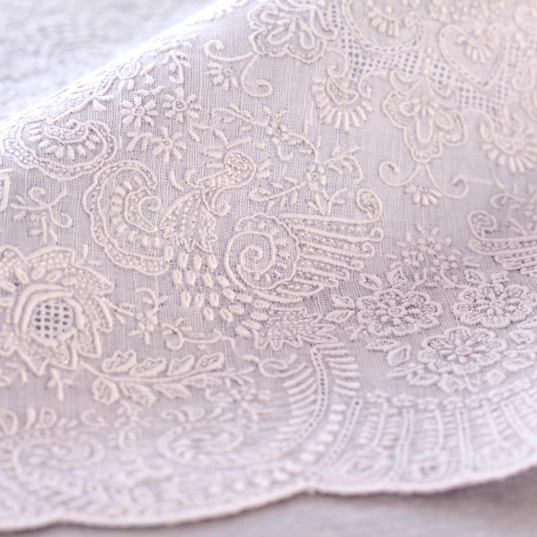 汕頭手刺繍 ハンカチ ヘリテージ