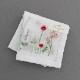 【送料無料】ベトナム手刺繍ハンカチ 花 2215 ホワイト
