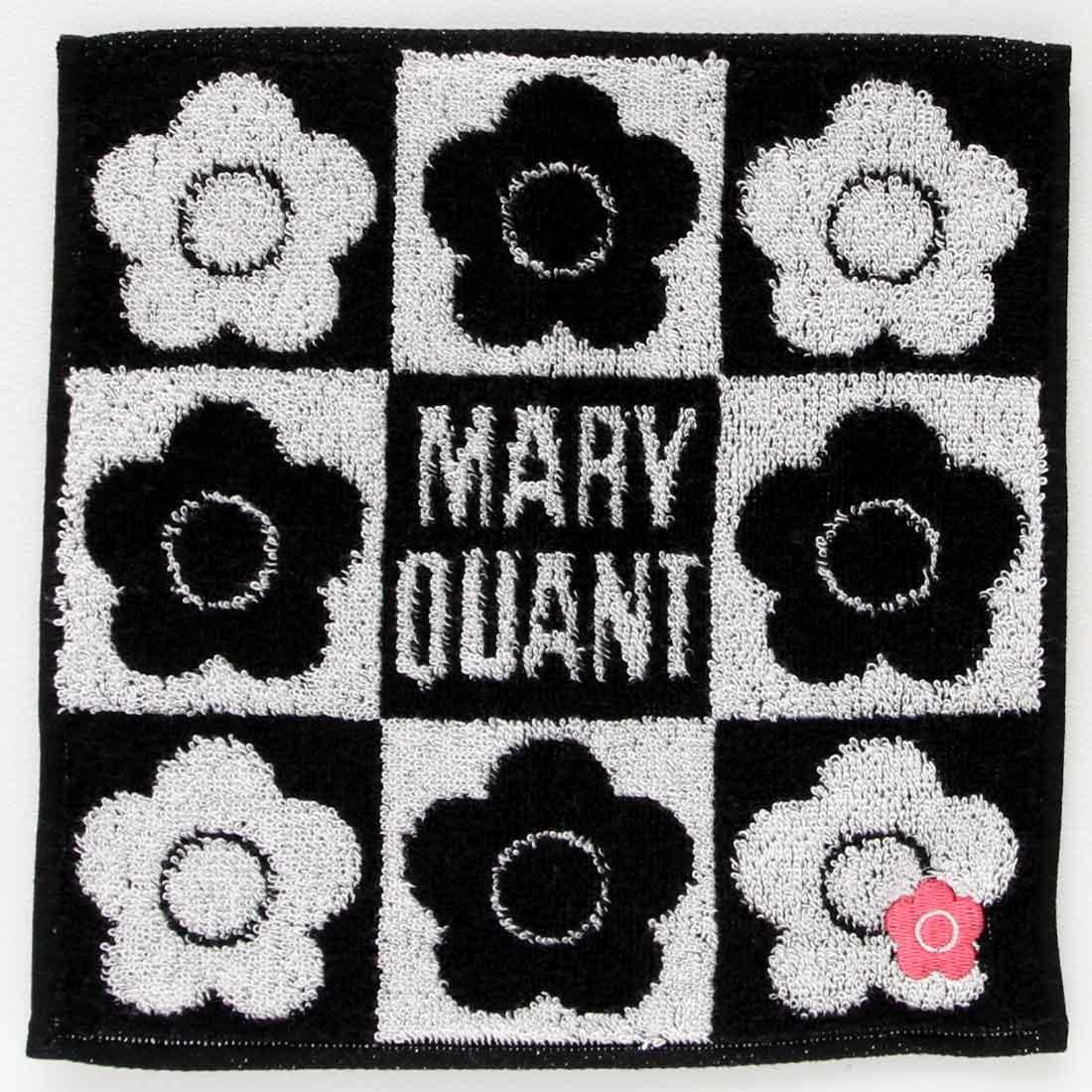 マリークヮント ミニタオルハンカチ 1202 ブラック 【MARY QUANT】