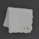 【送料無料】ベトナム手刺繍ハンカチ 花 2216 ホワイト