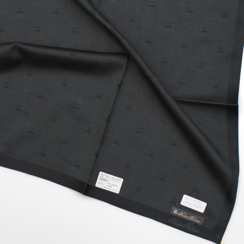 ブルックスブラザーズ イージーケアハンカチ 6560 ブラック
