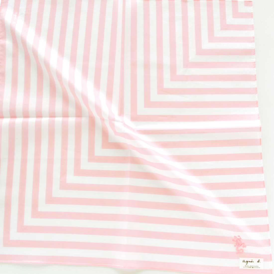 アニエスベー プリントハンカチ 9201 ピンク 【agnes b】