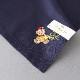 ポワンポワン ベトナム手刺繍 ハンカチ  クリスマス ベアー 8703  ネイビー