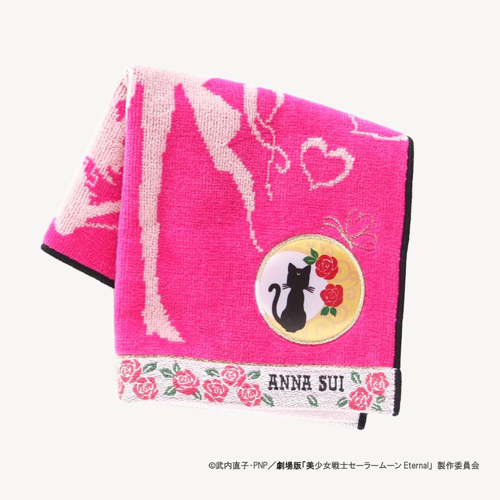 劇場版「美少女戦士セーラームーンEternal」 × ANNA SUI タオルハンカチ 0701 ピンク 【アナスイ ANNA SUI】