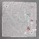 【送料無料】ポワンポワン ベトナム手刺繍 ハンカチ クリスマス リース 8705 グレー