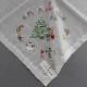 【送料無料】ポワンポワン ベトナム手刺繍 ハンカチ クリスマス ツリー 8706 イエロー
