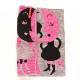 アツコマタノ 三重ガーゼハンカチ <ピンクのつっぱり月> 1503 グレー 【Atsuko Matano】