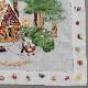【送料無料】ベトナム手刺繍ハンカチ 絵本シリーズ ヘンゼルとグレーテル 7401 ホワイト