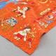 【送料無料】ベトナム手刺繍ハンカチ 絵本シリーズ ピノキオ 7402 オレンジ