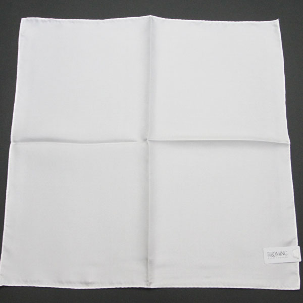 ポケットチーフ 無地 5251 ホワイト