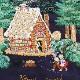 【送料無料】ベトナム手刺繍ハンカチ 絵本シリーズ ヘンゼルとグレーテル 7401 ネイビー