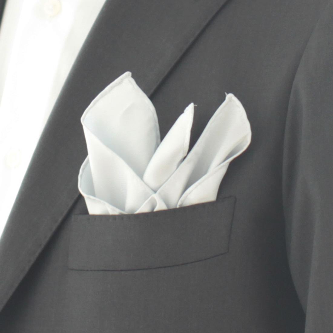 ポケットチーフ 無地 5251 グレー