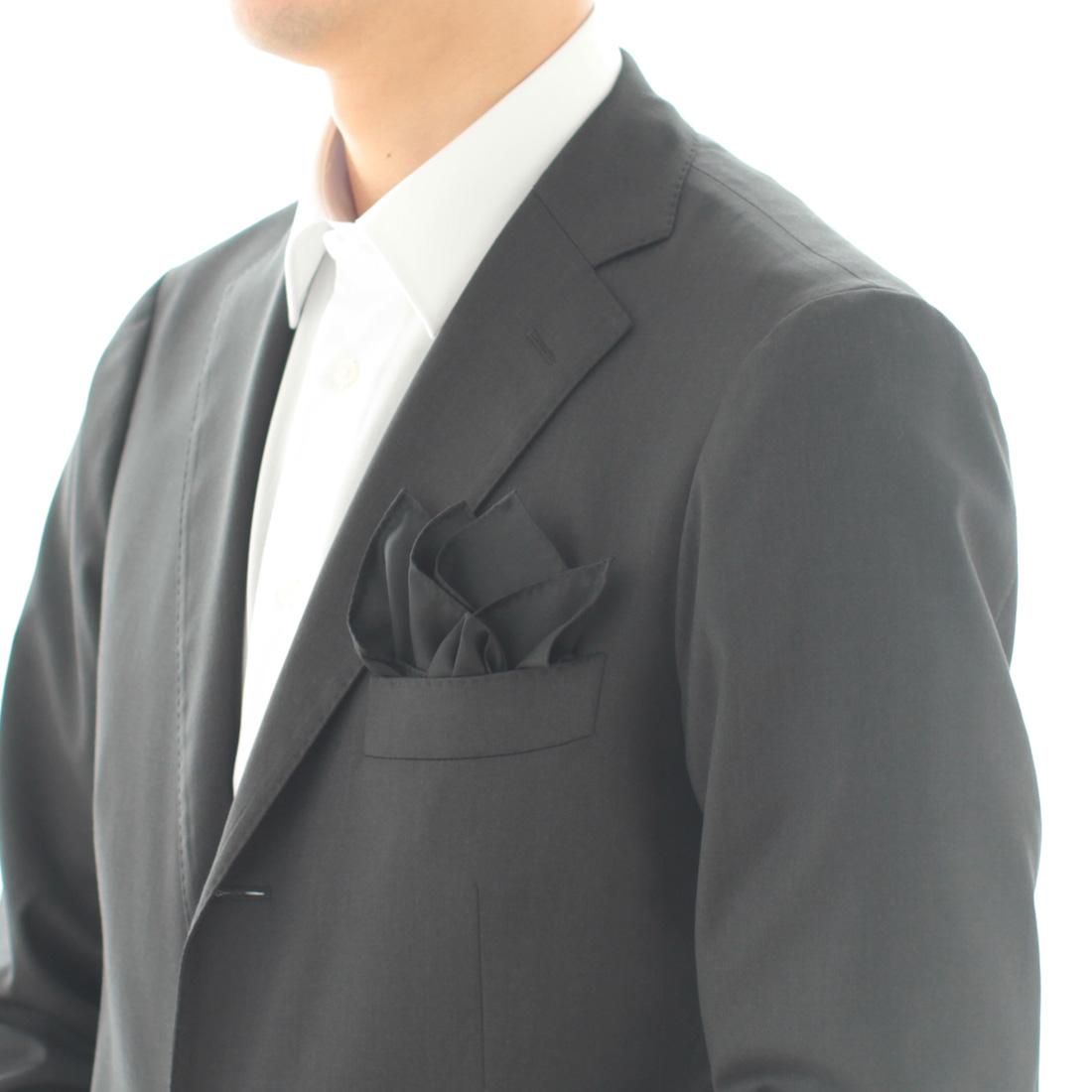 ポケットチーフ 無地 5251 ブラック
