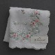 【送料無料】ベトナム手刺繍ハンカチ 花 2216 ライトピンク
