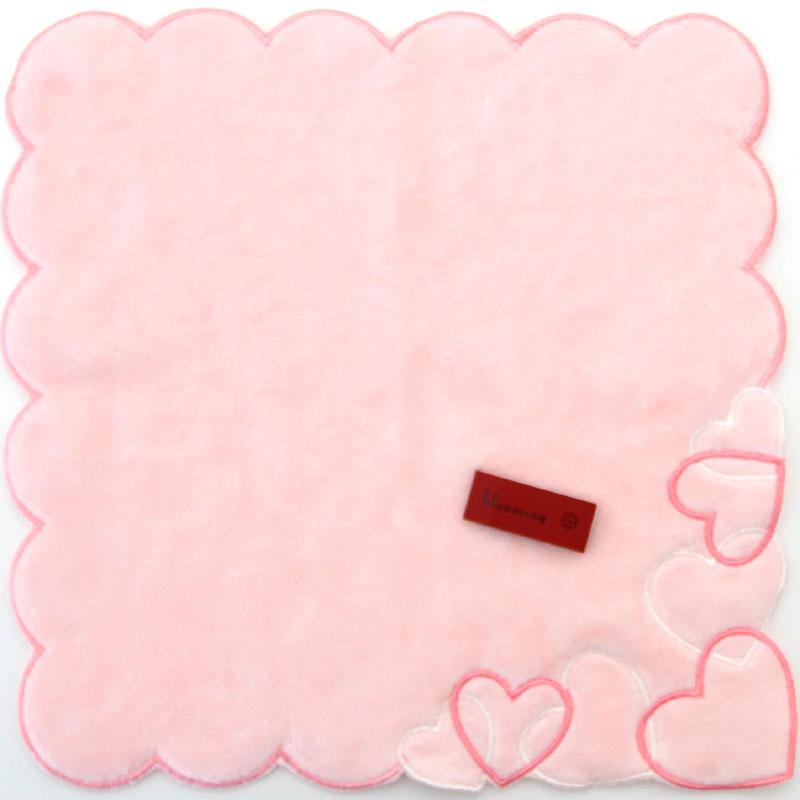 【ハート】 ブルーミングタオルハンカチ 8001 ピンク