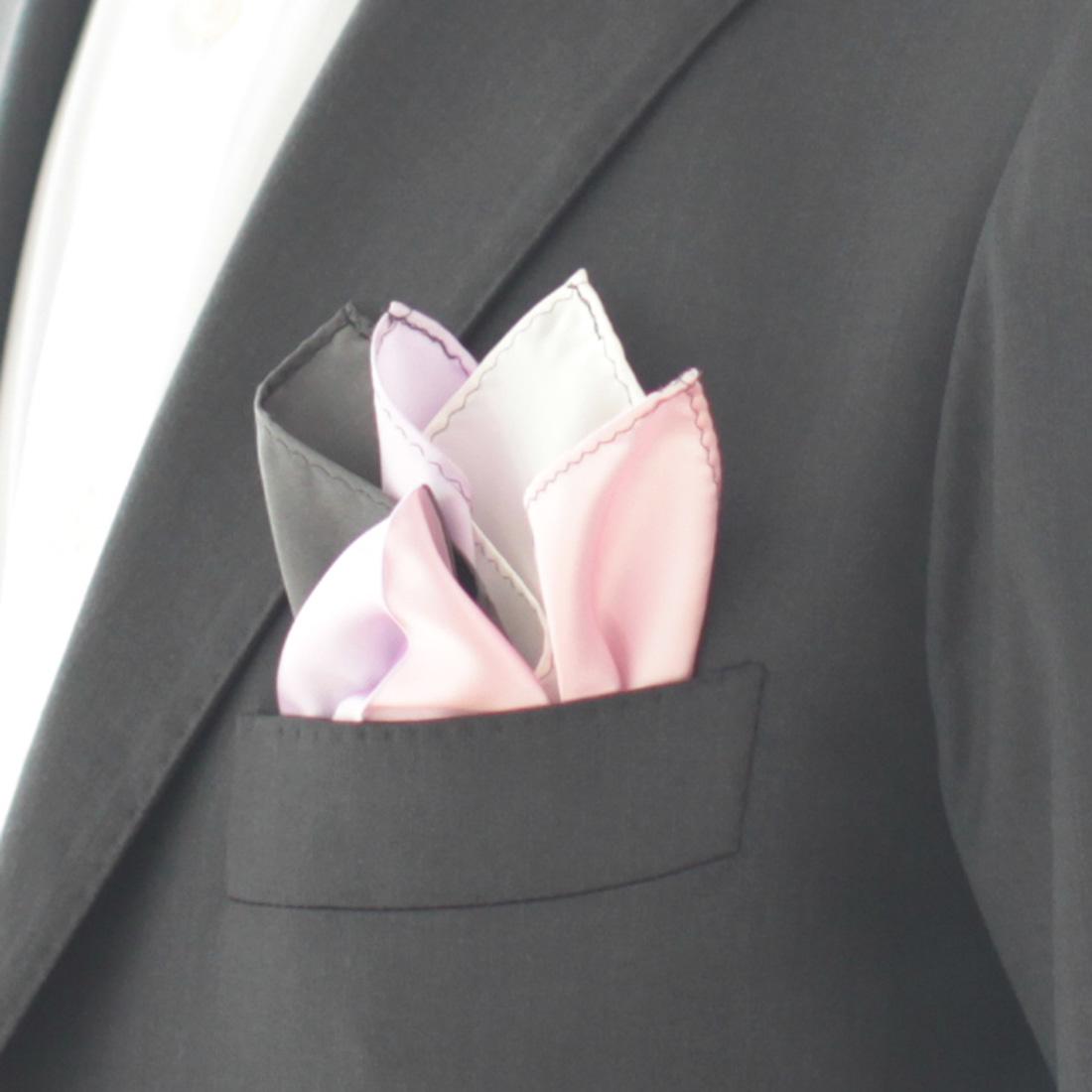 ポケットチーフ Four colors 5252