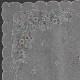 【送料無料】ベトナム手刺繍ハンカチ 花 2216 ライトグレー