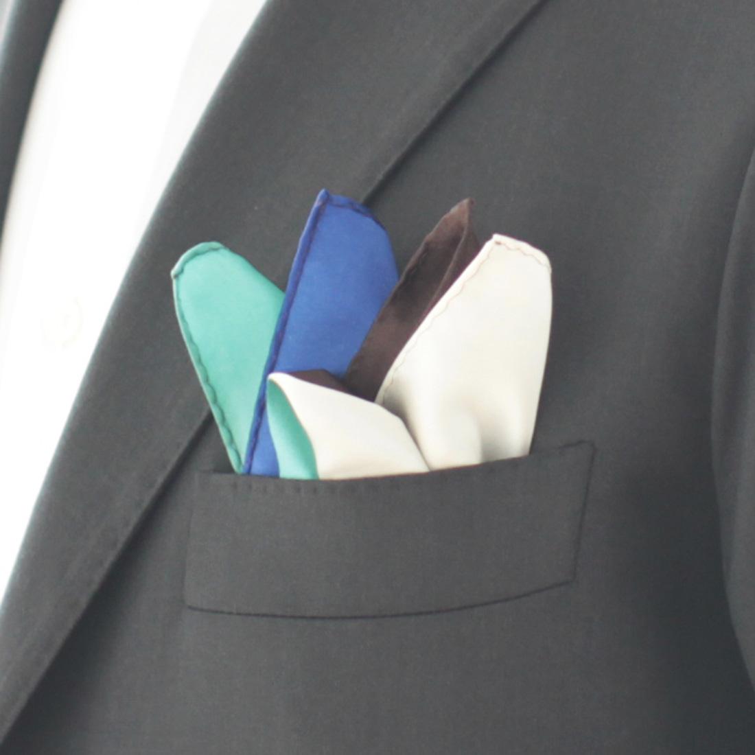 ポケットチーフ Four colors 5253