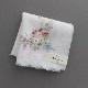 【送料無料】ベトナム手刺繍ハンカチ 花 5211 ホワイト