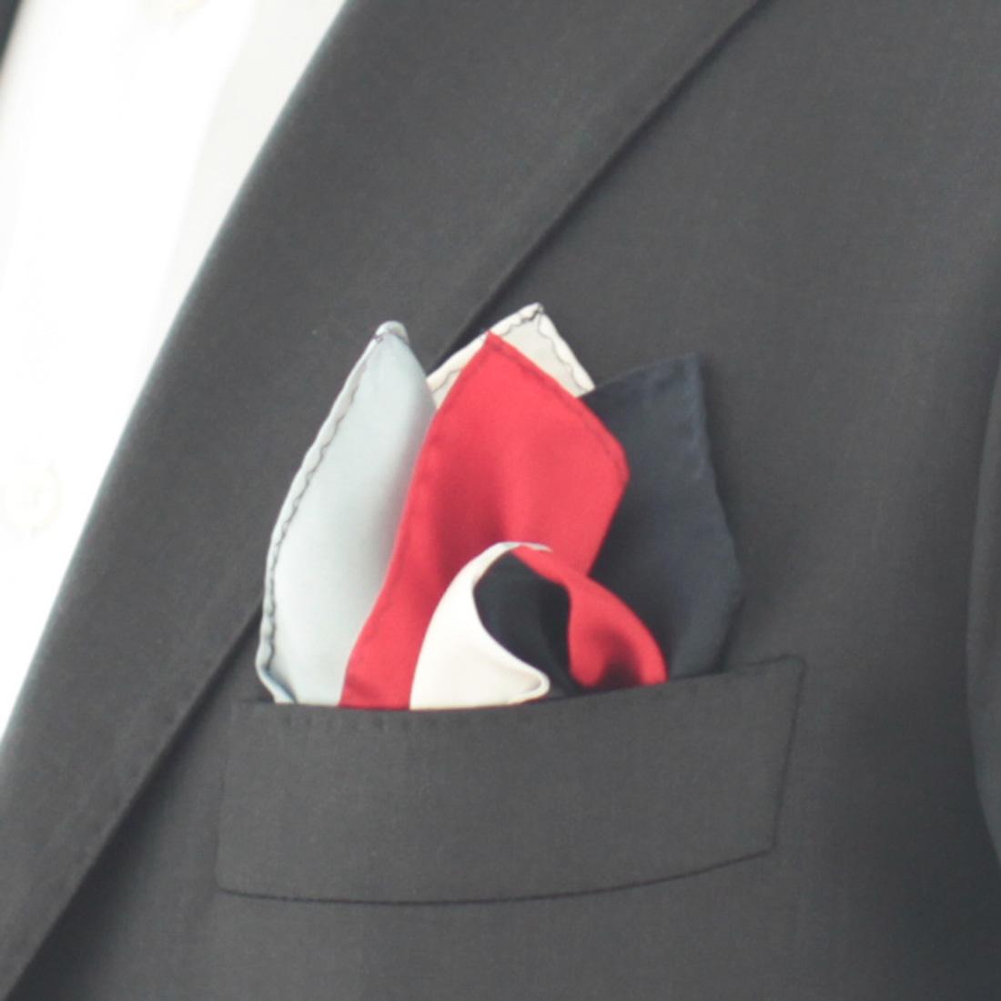 ポケットチーフ Four colors 5254
