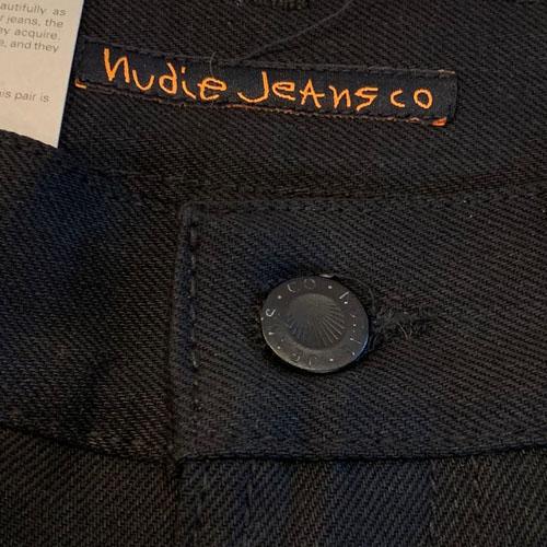 NUDIE JEANS(ヌーディー ジーンズ) GRITTY JACKSON Black グリッティジャクソン レギュラーストレート ブラックレインボー