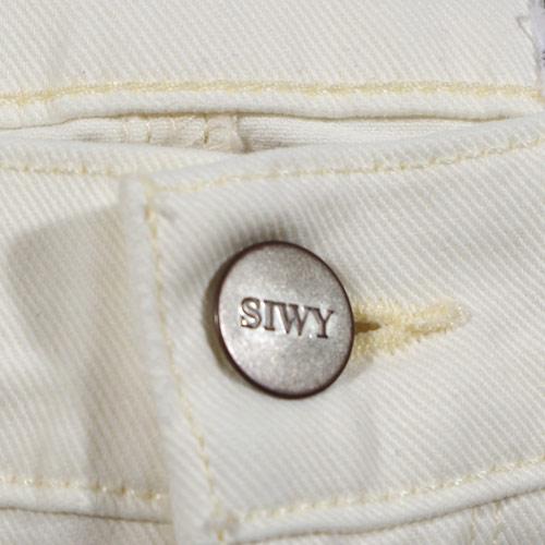 Siwy(シィーウィー) LAUREN MID RISE CROP SKINNY Double Cream