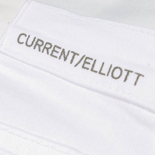 Current Elliott(カレントエリオット) THE KICK JEAN Sugar ホワイトフレアーデニム