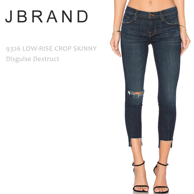 J Brand(ジェイブランド・ジェーブランド)9326 LOW RISE CROP SKINNY Desguise Destruct スキニーデニム