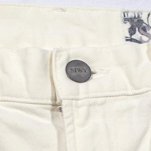 Siwy(シィーウィー) VALERIE CROPPED FALRE Ecru ホワイトフレアーデニム