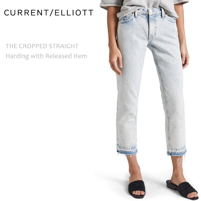 Current Elliott(カレントエリオット) THE CROPPED STRAIGHT Harding w/Released Hem ストレートデニム