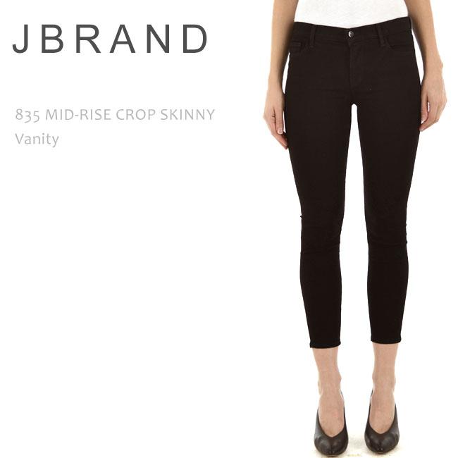 J Brand (ジェイブランド・ジェーブランド) 835 MID RISE CROP SKINNY Vanity ブラックスキニー