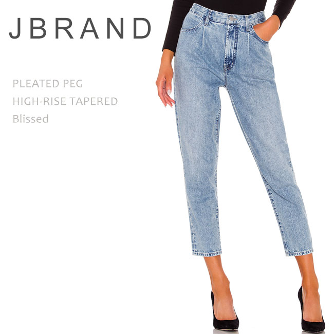 J Brand (ジェイブランド・ジェーブランド) PLEATED PEG HIGH-RISE TAPERED Blissed ハイウエストデニム