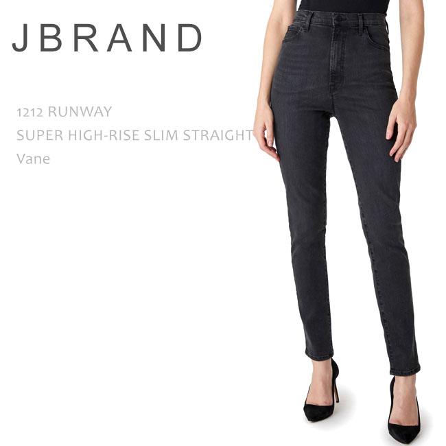 J Brand (ジェイブランド・ジェーブランド) 1212 RUNWAY PHOTO READY HD SUPER HIGH-RISE SLIM STRAIGHT Vane ハイウエストデニム