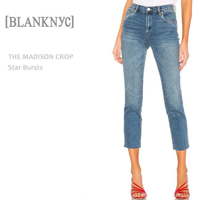 BLANK NYC(ブランクニューヨークシティー) THE MADISON CROP Star Bursts ストレートデニム