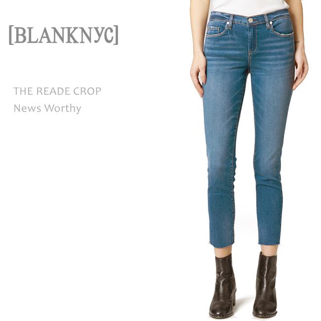 BLANK NYC(ブランクニューヨークシティー) THE READE CROP News Worthy スキニーデニム