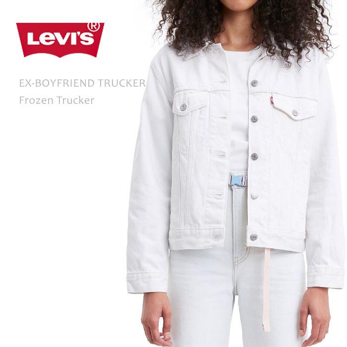 Levi's (リーバイス) EX-BOYFRIEND TRUCKER Frozen Trucker デニムジャケット