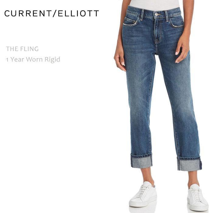 Current Elliott(カレントエリオット) THE FLING 1 Year Worn Rigid ボーイフレンドデニム