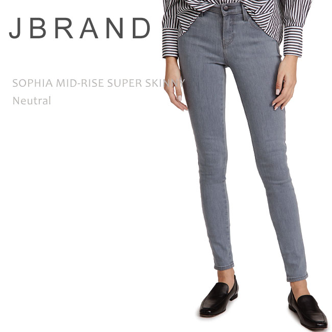 J Brand (ジェイブランド・ジェーブランド)SOPHIA MID RISE SUPER SKINNY Neutral