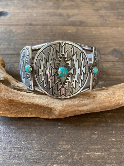 <Indian Jewelry>NativeSilverTurquoiseBangle