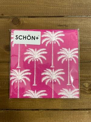 <SCHON>PinkPalmPaperNapkin
