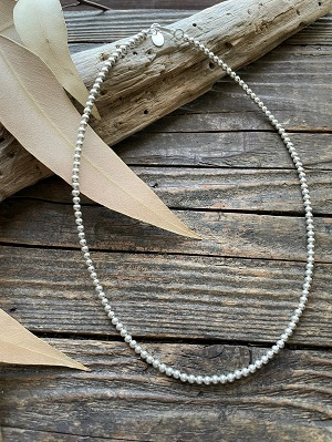 <Indian Jewelry>NavajoPearlNecklace3mm41