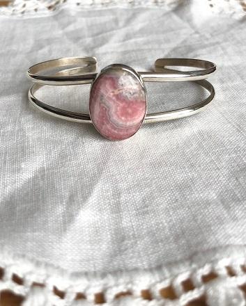 <Indian Jewelry>IncaroseSilverBangle No2