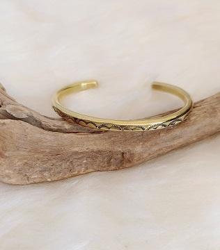 <Indian Jewelry>BrassStampBangleNo1