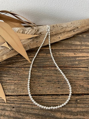 <Indian Jewelry>NavajoPearlNecklace4mm41