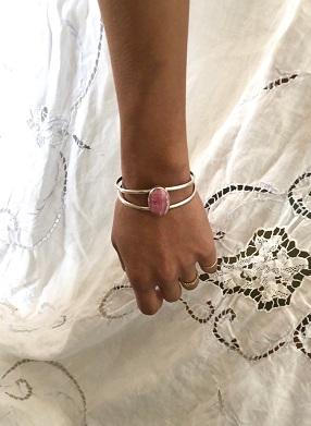 <Indian Jewelry>IncaroseSilverBangle No1