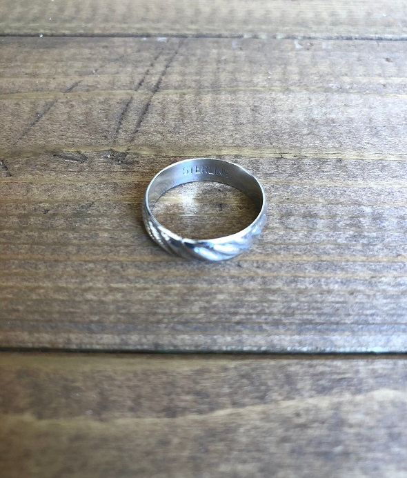<Indian Jewelry>RopeSilverRing