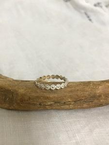 <Indian Jewelry>MiniFlowerSilverRing
