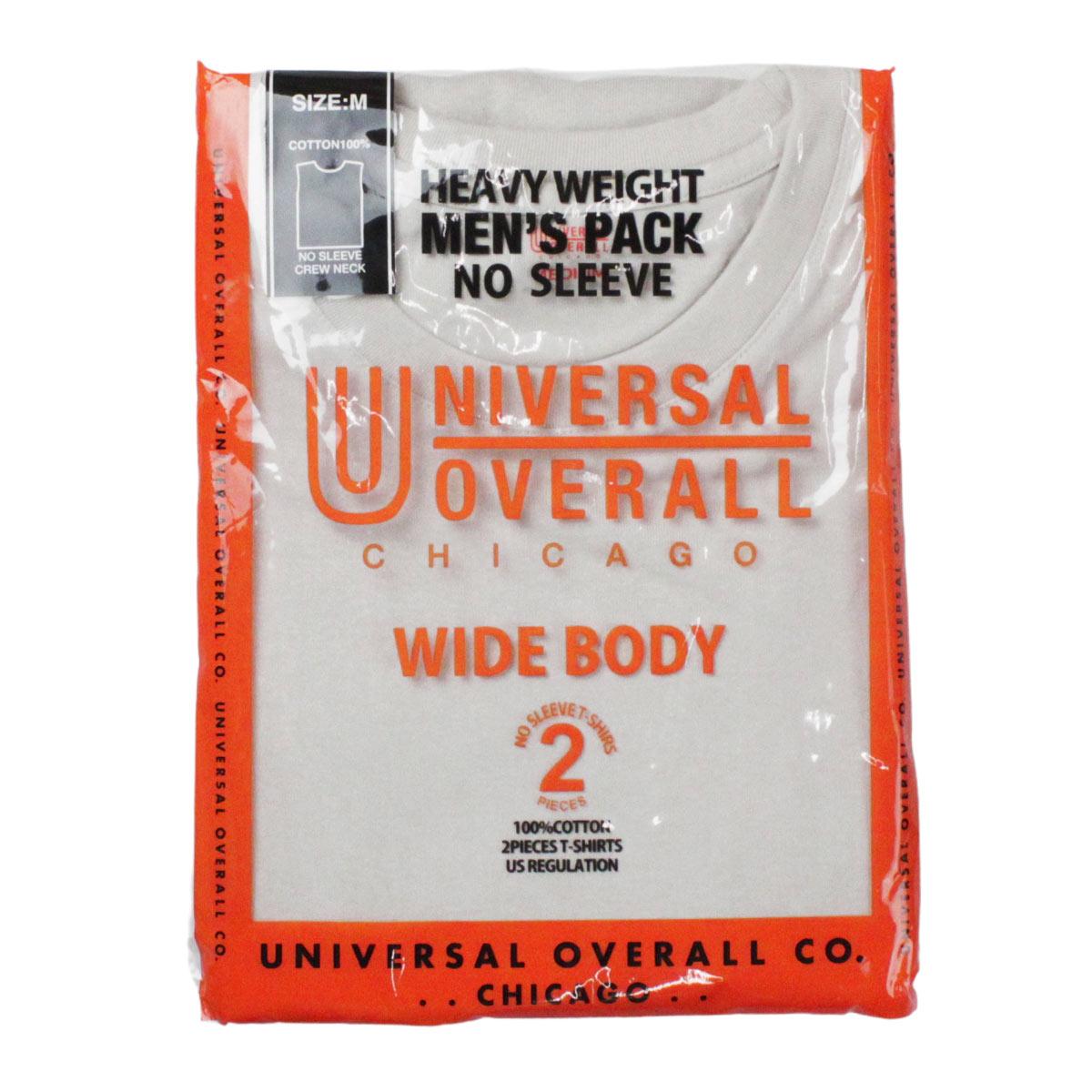 UNIVERSAL OVERALL ユニバーサルオーバーオール WIDE HEAVY 2PACKS SLEEVELESS